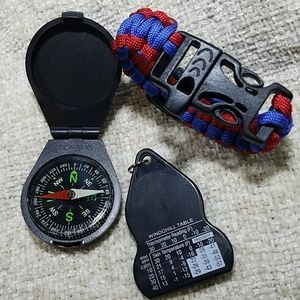 unbranded Other - Boy Scouts Compass lot w/ Paracord Bracelet